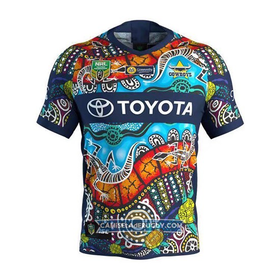 Camiseta North Queensland Cowboys Rugby 2018-19 Indigenous