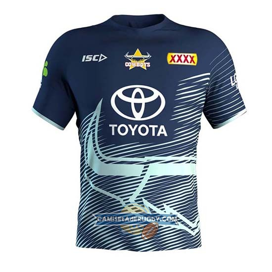 Camiseta North Queensland Cowboys Rugby 2019 Entrenamiento