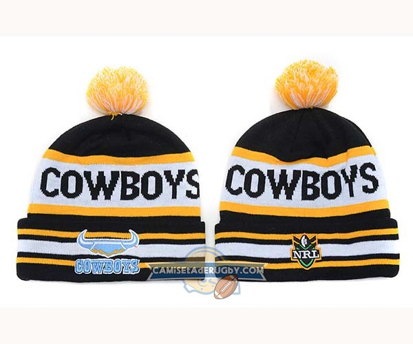 Gorros NRL North Queensland Cowboys Negro Amarillo Blanco