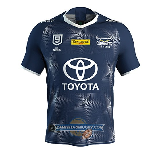 Camiseta North Queensland Cowboys Rugby 2020 Azul