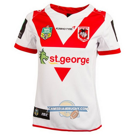 Camiseta de St. George Illawarra Dragons NRL Local2016 Mujer